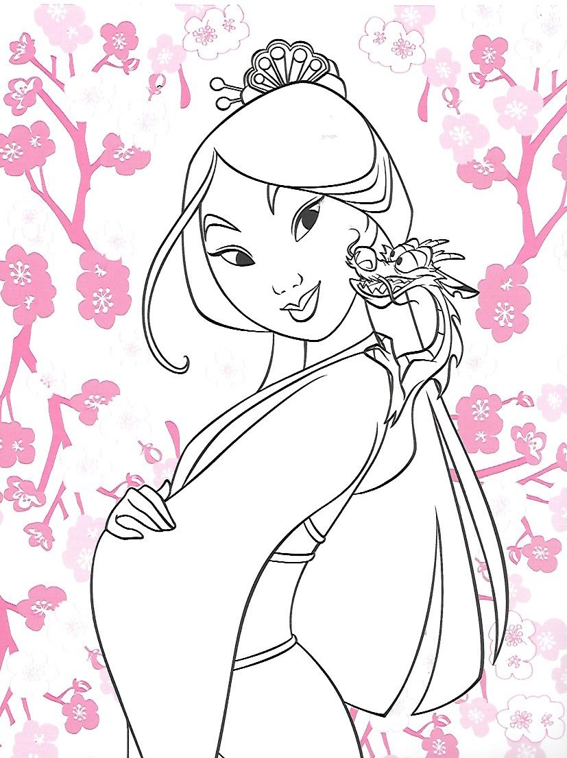 Pin by morimana on Mulan Coloring Pages | Disney coloring sheets, Cartoon  coloring pages, Princess coloring pages