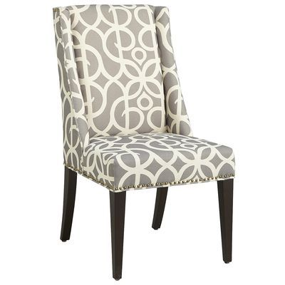 Owen Metro Pewter Dining Chair With Espresso Wood