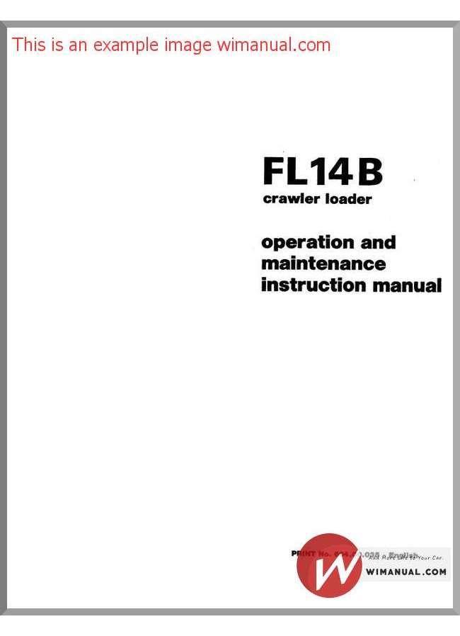 Fiat Fl14B Om Maint Instr Manual pdf download This manual has