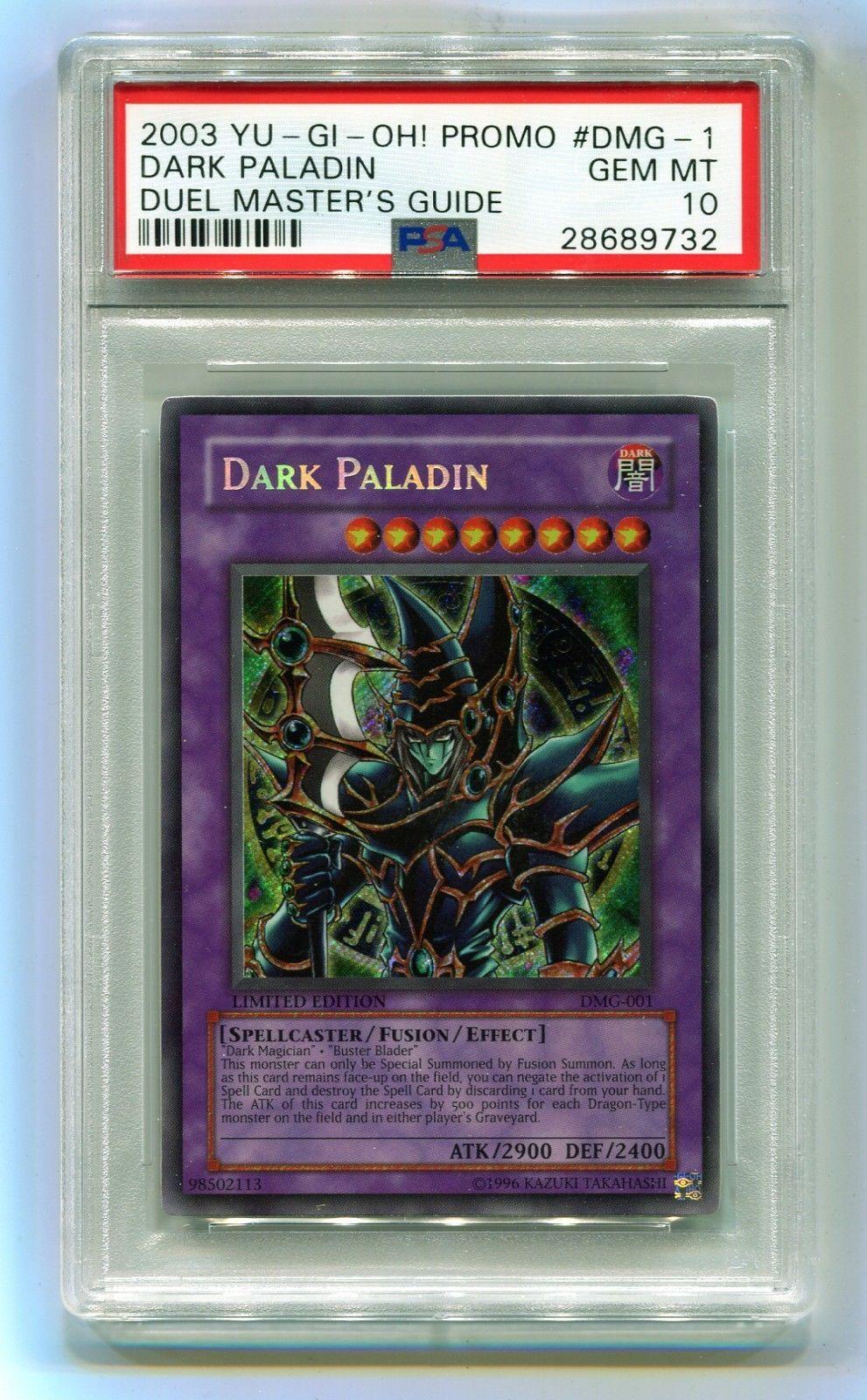 2003 yugioh dark paladin dmg001 secret rare duel