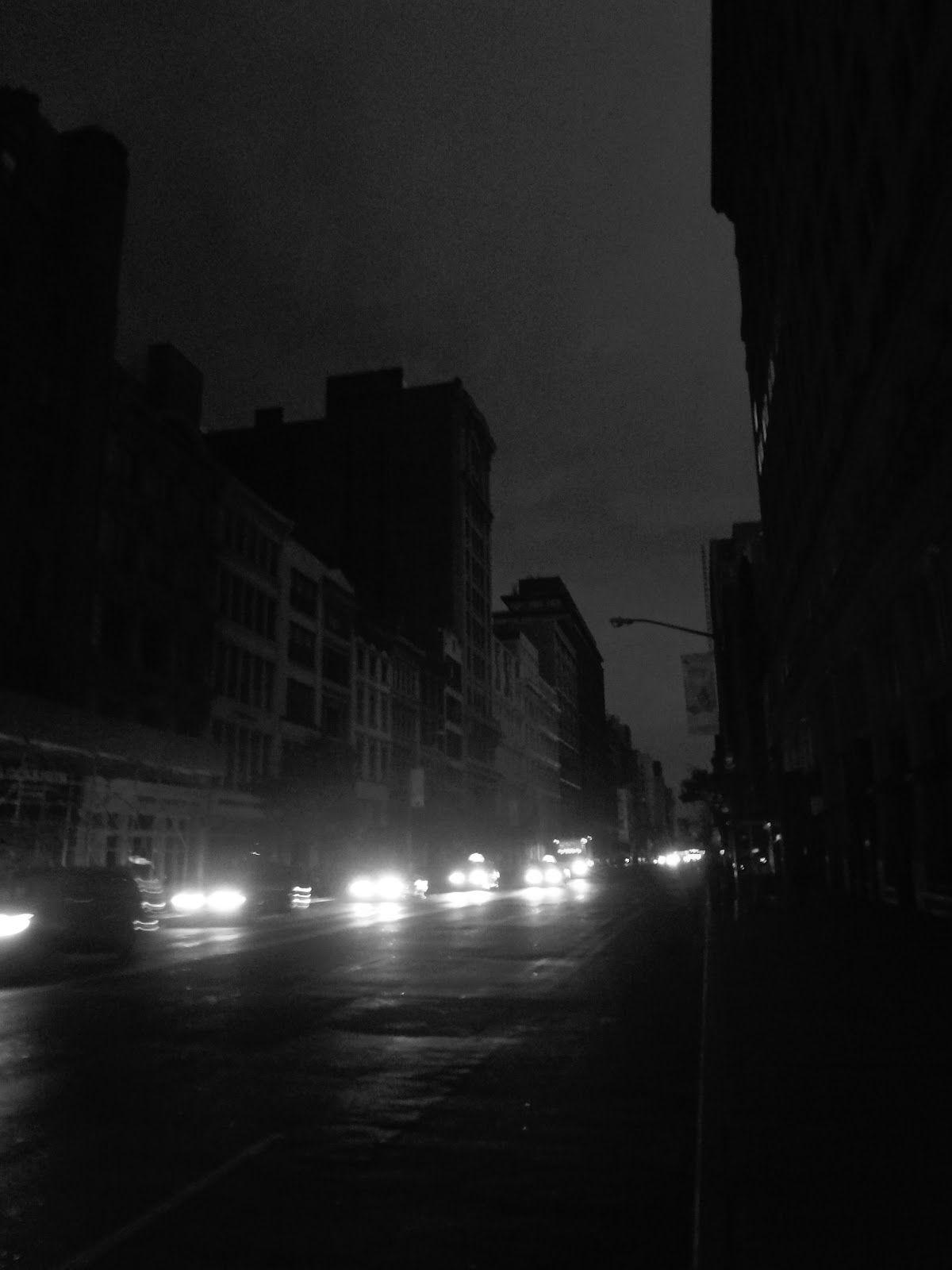 Black & White New York THIS DARK CITY; PostHurricane