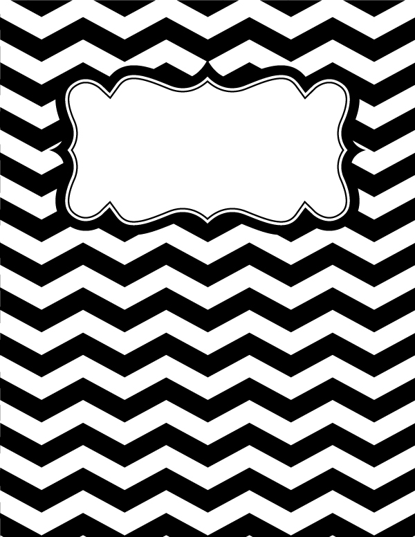 cool binder cover templates - free printable black and white chevron binder cover