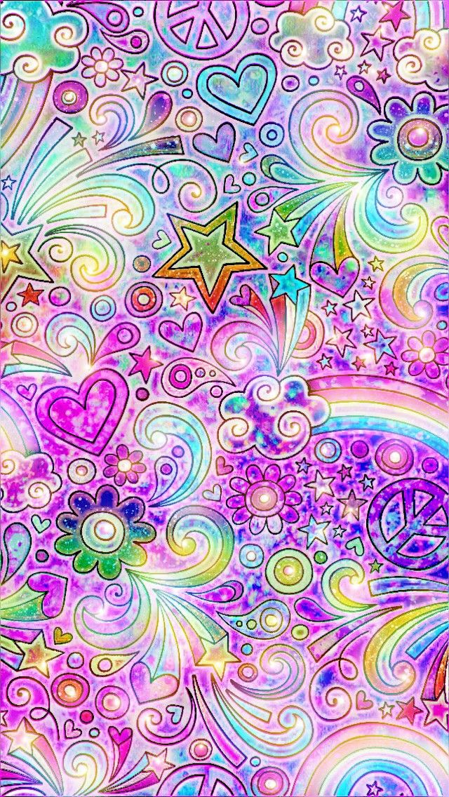 Glittery Rainbows, made by me #patterns #colorful #glitter ...