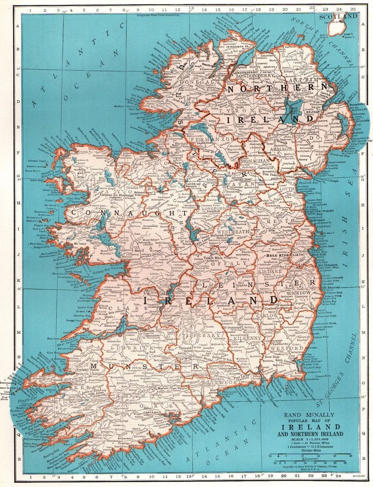1945 antique map of ireland map vintage ireland map gallery wall art 1945 antique map of ireland map vintage ireland map gallery wall art 4338 gumiabroncs Gallery