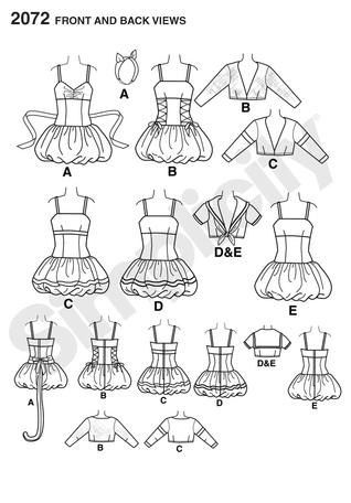 Diy Sewing Pattern-Simplicity 2072-Sexy Witch,Sailor,Cat,Firefighter ...