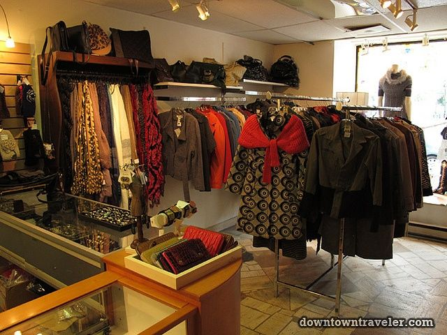Friperie Et Bijoux Thrift Store In Montreal 4 By Downtown Traveler Via Flickr Vintage Store Vintage Clothing Display Montreal