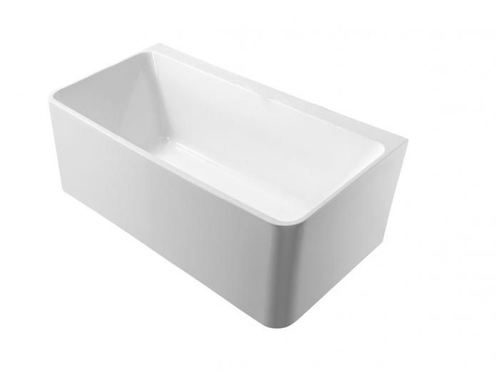 Small Back To Wall Bath Part - 31: Mizu Soothe 1500 Back To Wall Freestanding Bath Maximises Space Inside
