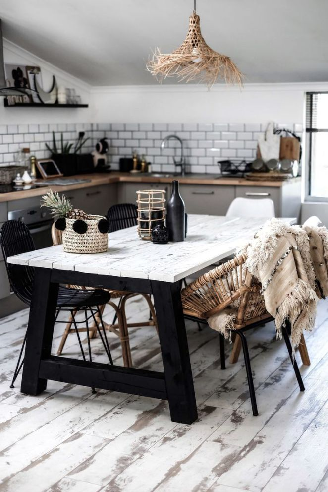 Salle à manger déco lisa germaneau x zago home pinterest kitchens gray cabinets and decoration