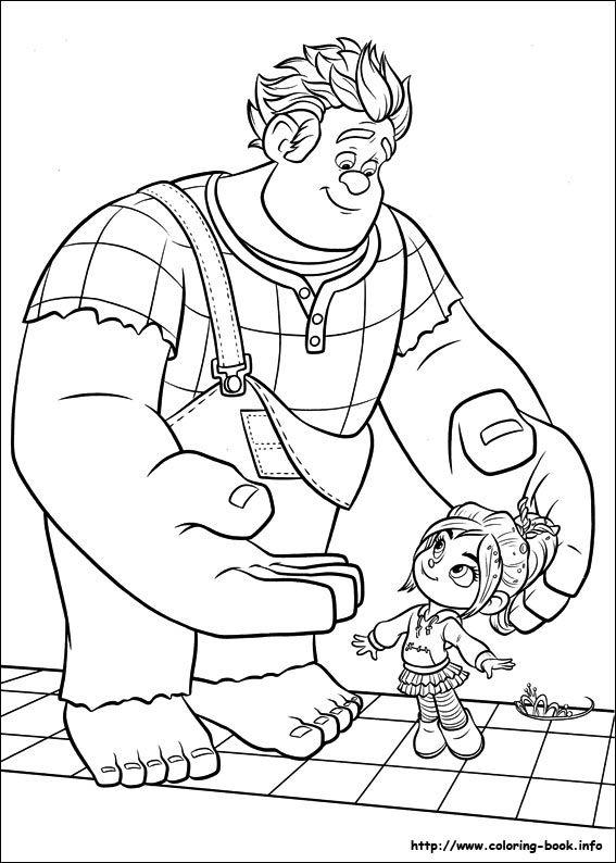 wreckit ralph coloring picture i just love that cute