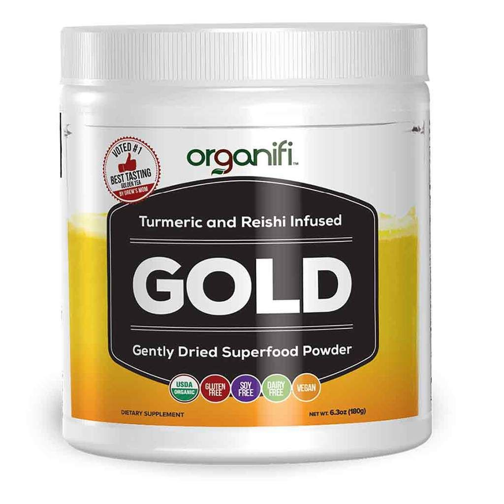 Organifi Gold Improve Sleep Soothe Muscles Support Joints Organifi Superfood Powder Best Healthy Diet