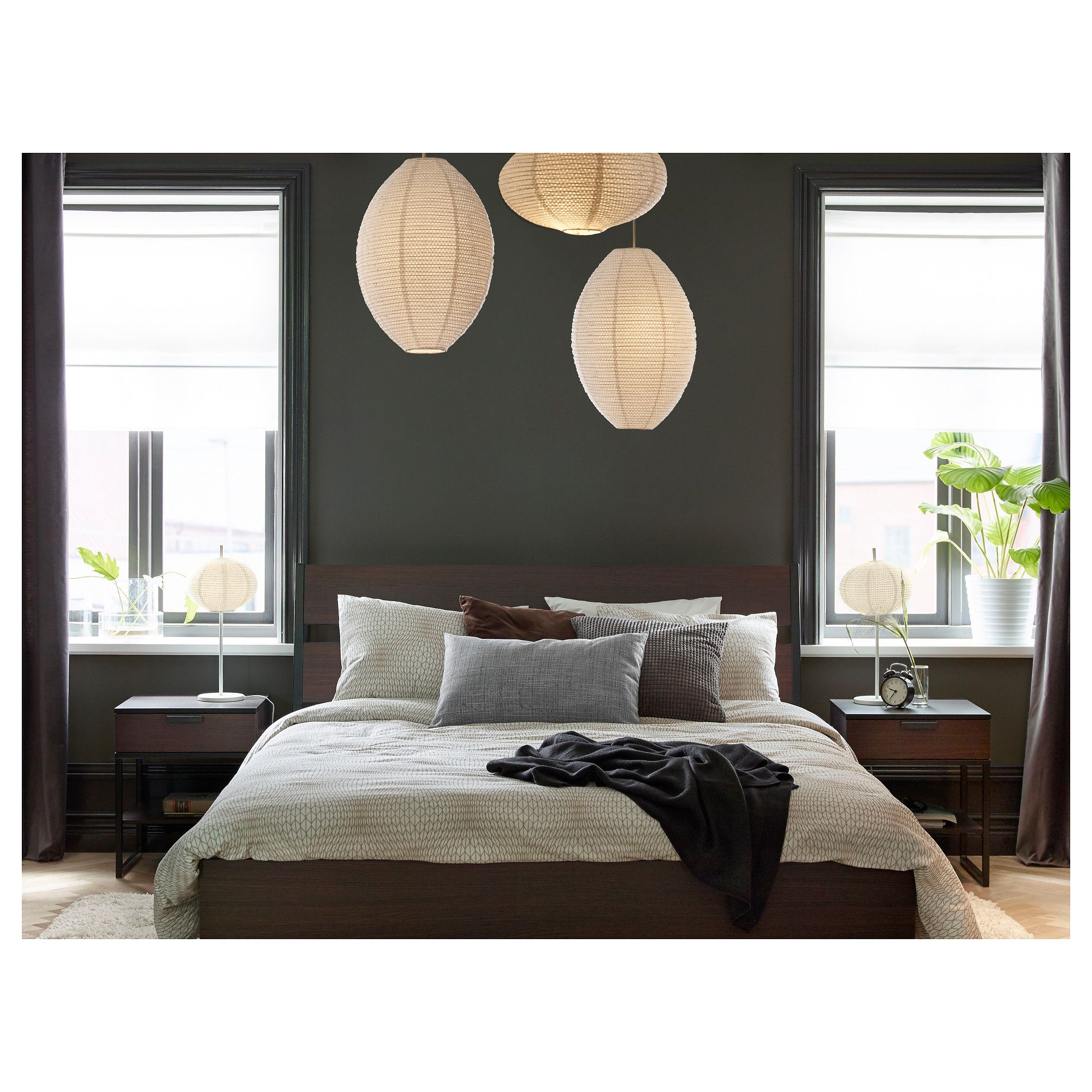Trysil Bed Frame Dark Brown Luröy