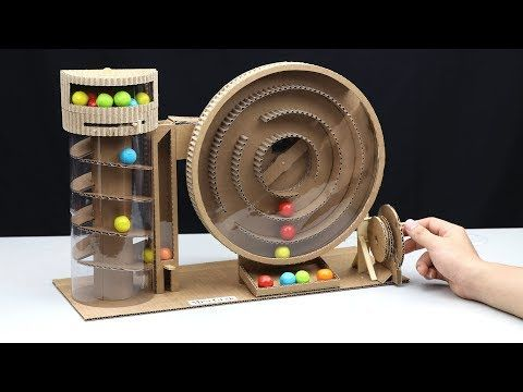 Build a Vending Machine with Gumball from Cardboard