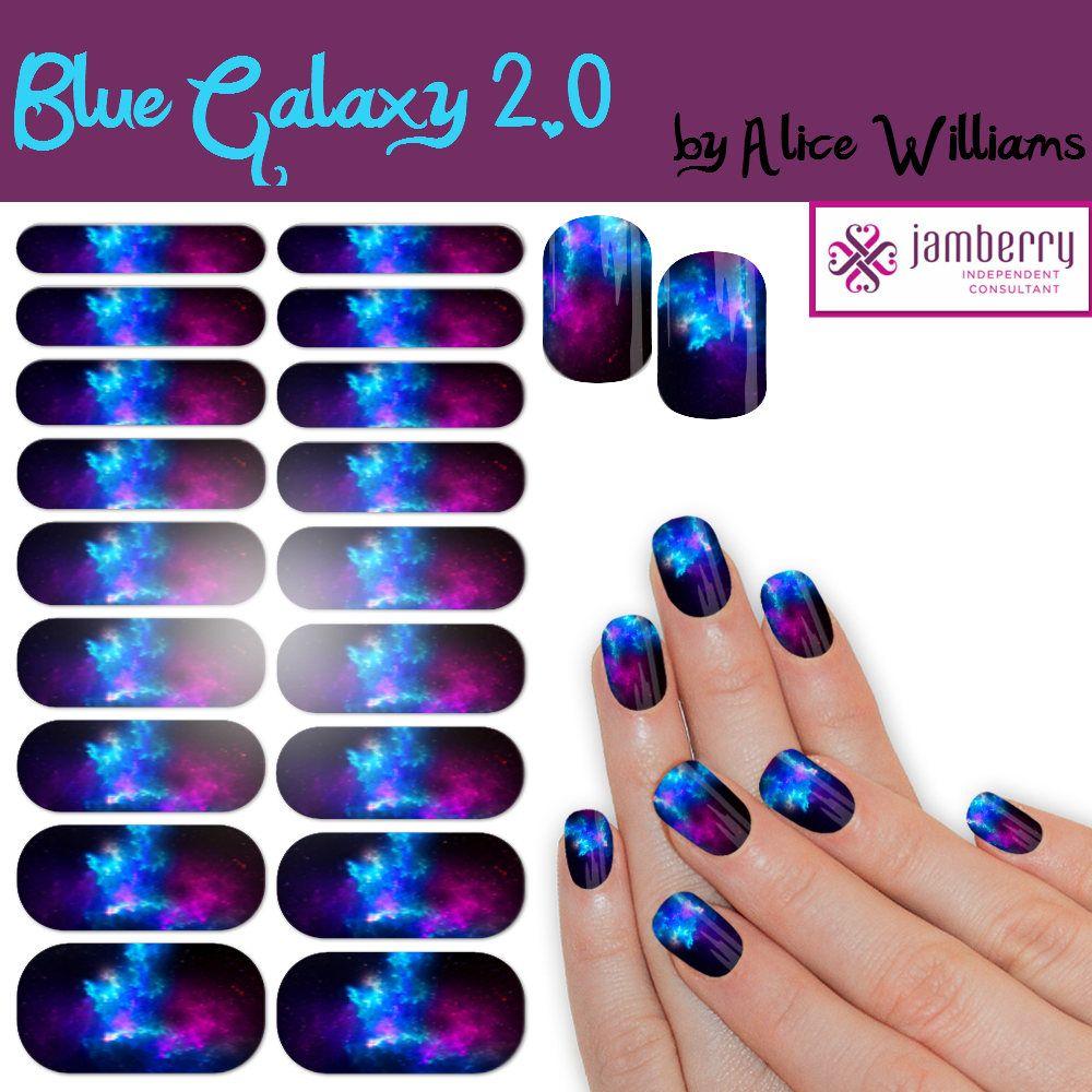 Blue Galaxy 2.0 Custom Nail Wraps by BonusLifeDesigns on Etsy ...
