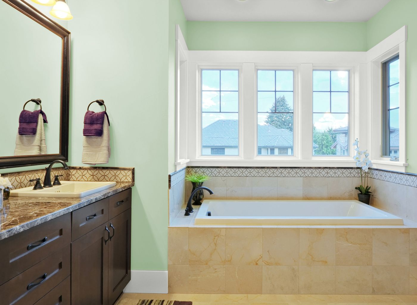Bathroom color ideas green - Bathroom In Italianate Villa Green
