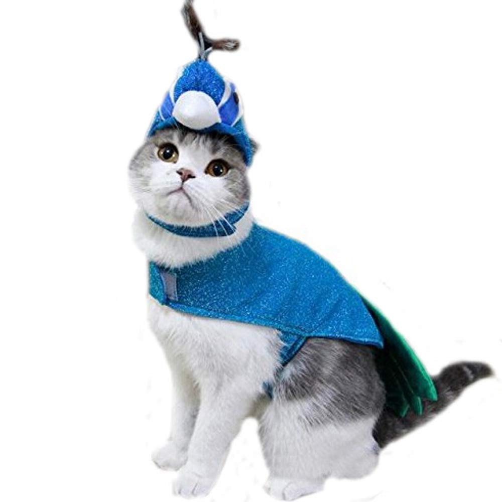 Bro'Bear Pet Peacock Costume with Hat for