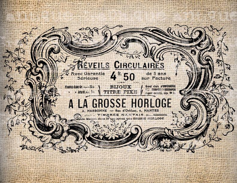 vintage french labels Antique French Menu Food Label Paris - french menu