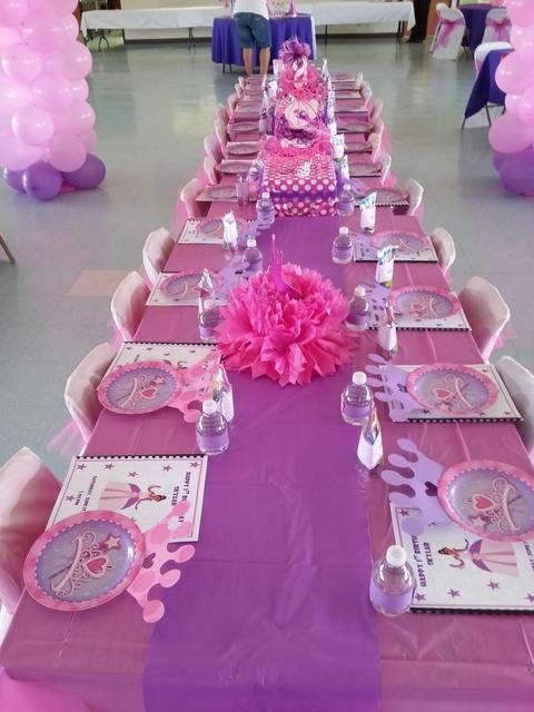 Table At A Princess Party Princessparty