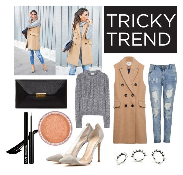 """Tricky Trend: Sleeveless Coat"" by maddystieva ❤ liked on Polyvore"