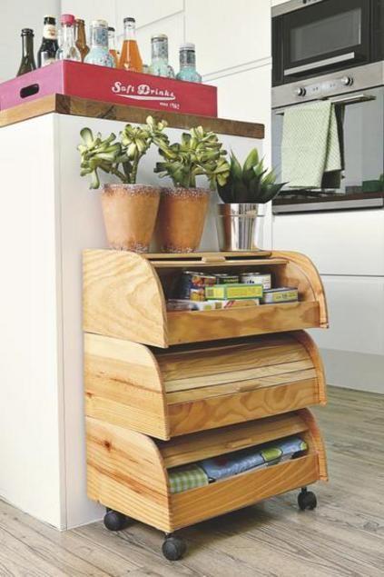 Cómo hacer un practico mueble para la cocina   Diy home decor ...