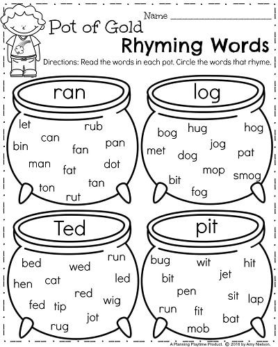 March Kindergarten Worksheets Reading Kindergarten