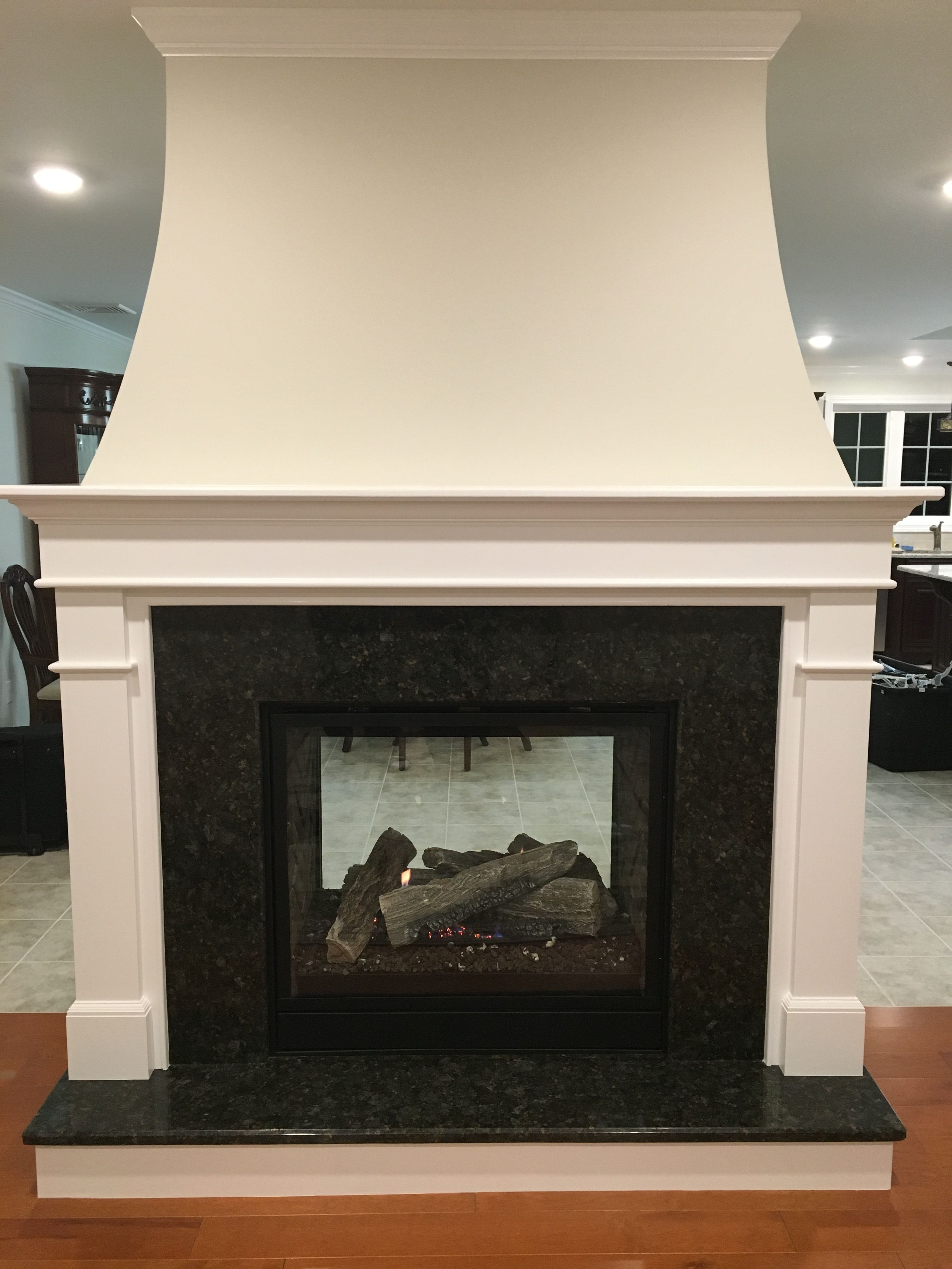 Two sided fireplace (With images) | Fireplace, Elegant ...