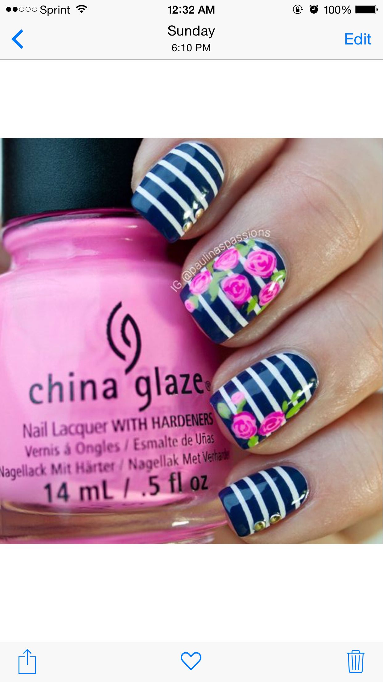Navy blue and roses