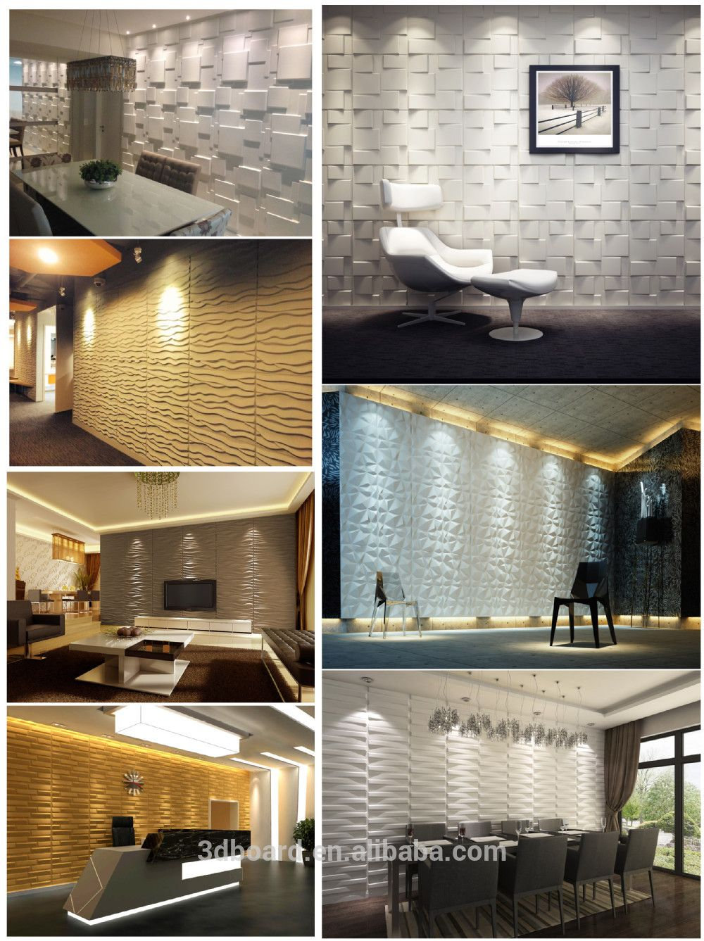 Tile N Decor Modern Wall Art Decor Interior 3D Effect Wall Panels For Home