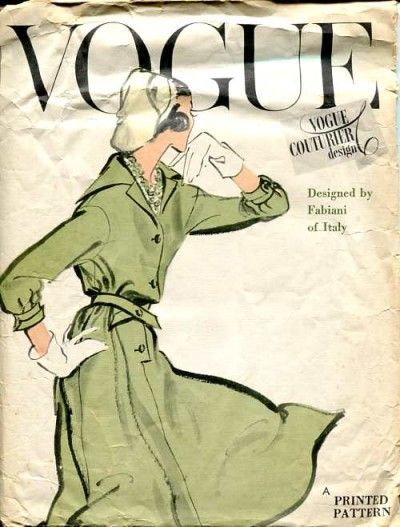 Vogue Couturier Design 102; ©1958; Fabiani of Italy