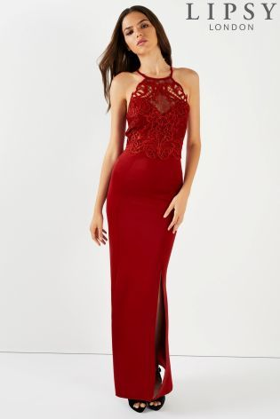 c1c834267b80f Buy Lipsy Lace Artwork Detail Maxi Dress from the Next UK online shop
