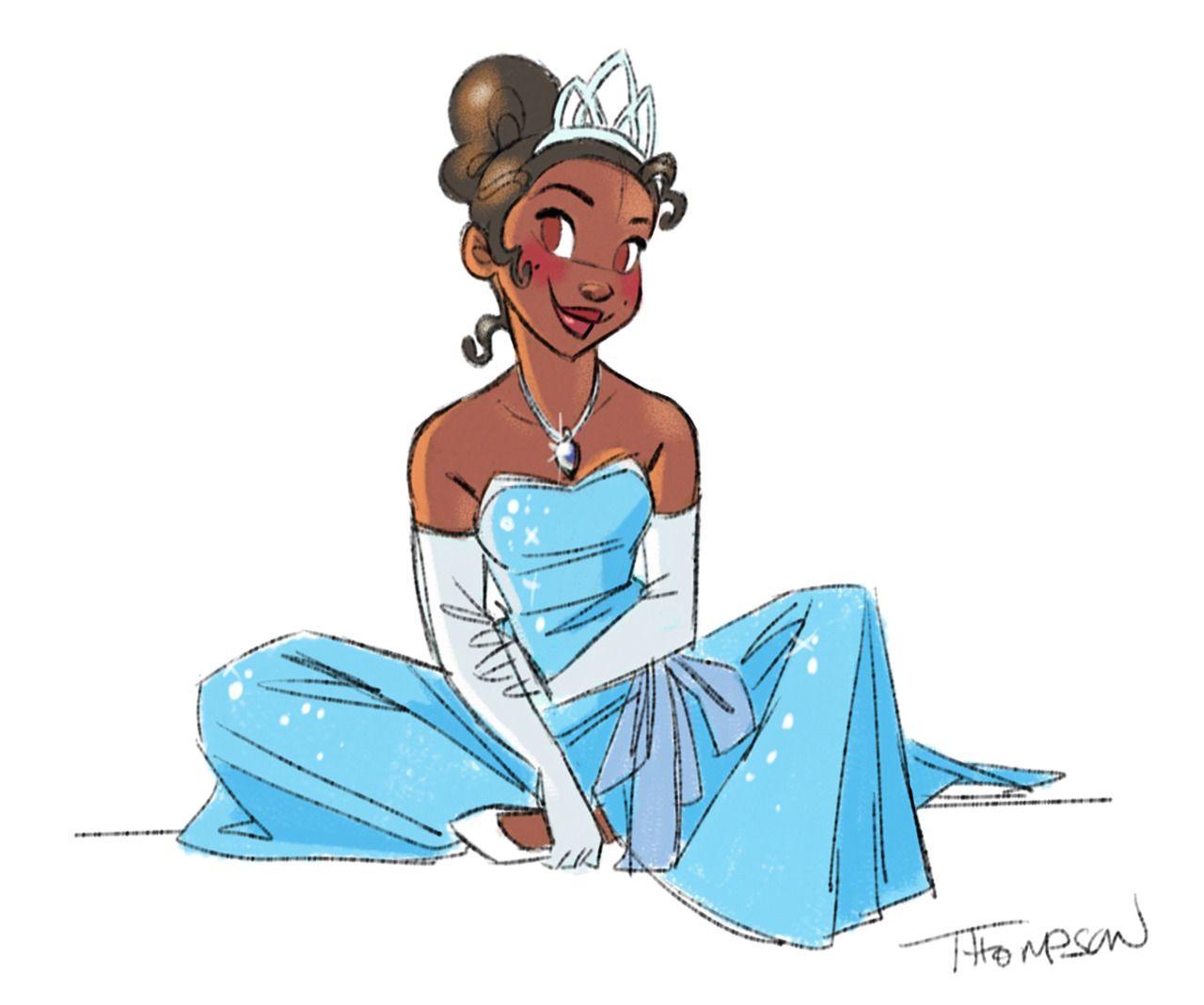"Princess Tiana Art: Stevethompson-art: "" Tiana. Instagram"
