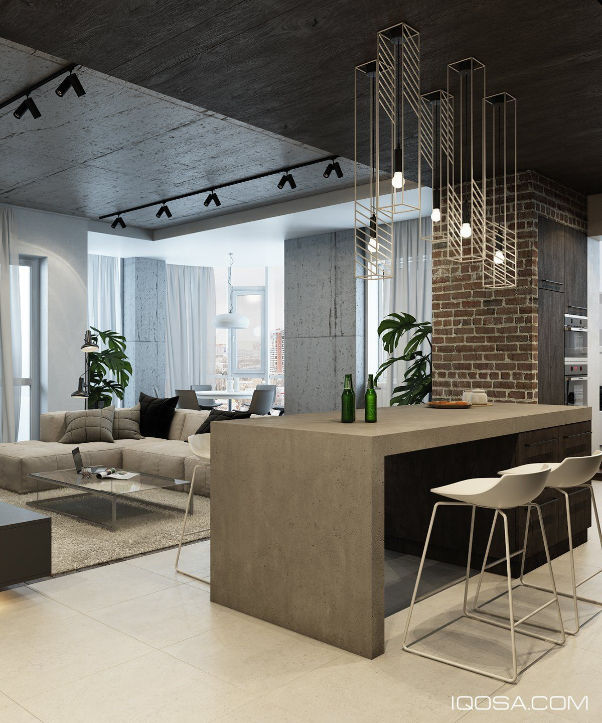 Interieur Modern Industrieel Design A Chic Modern Space Around A Brick Accent Wall