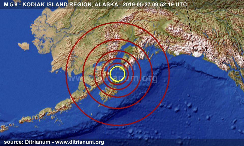 Eartrhquake M 5 8 Kodiak Island Region Alaska 2019 05 27 09