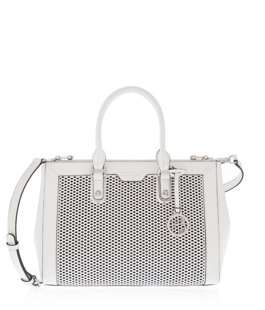 West 57th Perforated Carryall | Splurge | Henri Bendel