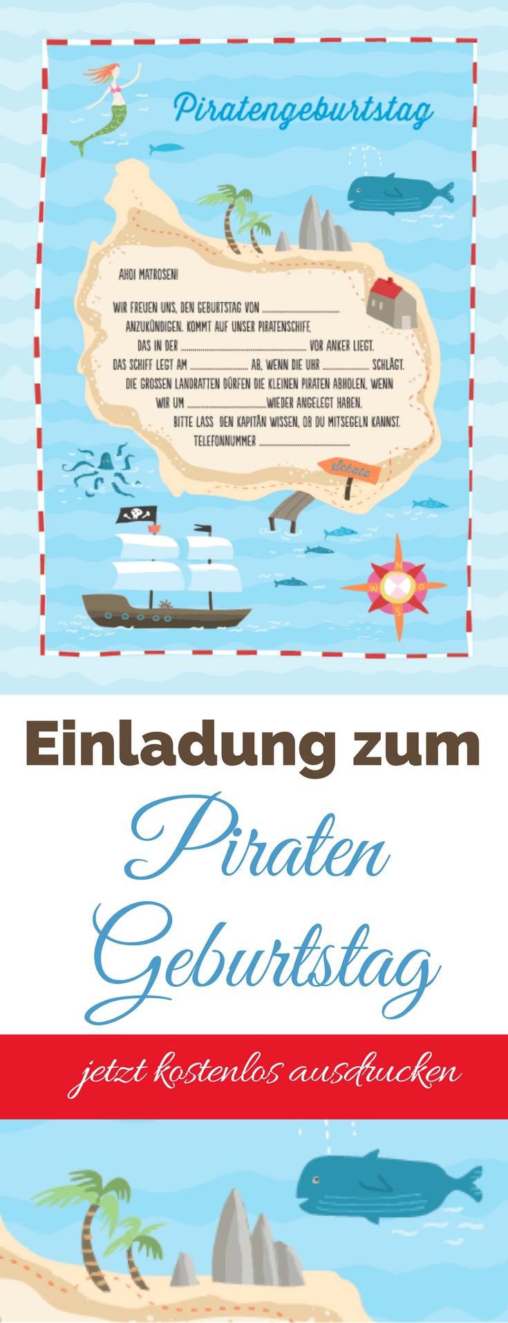 Piratenparty Einladung Kostenloser Download Zum Selbst Ausdrucken Geburtstagseinladungen Kinder Vorlage Einladung Kindergeburtstag Einladung Kindergeburtstag