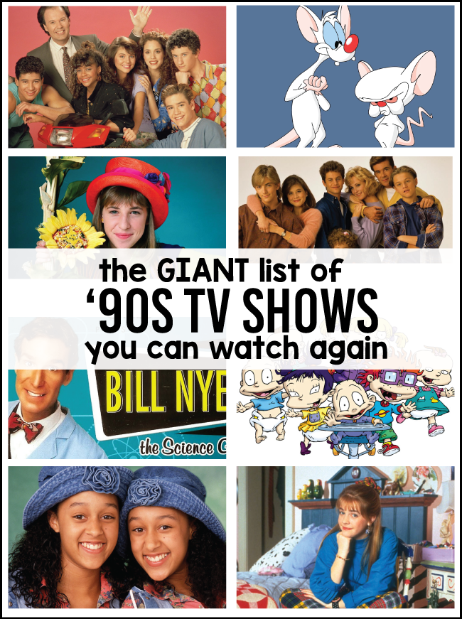 90s Kids Shows You Can Watch Again 30days Favorites Pinterest