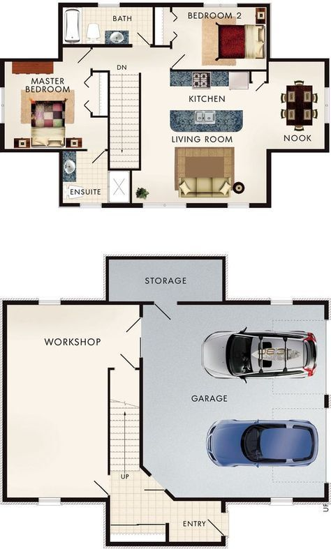 Cotswold I Floor Plan house plans Pinterest Garage apartments - Apartment House Plans