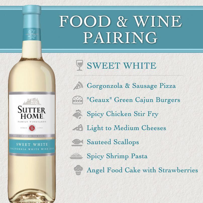 Sutter Home Wine Food Pairing Series Sweet White Wine Recipes