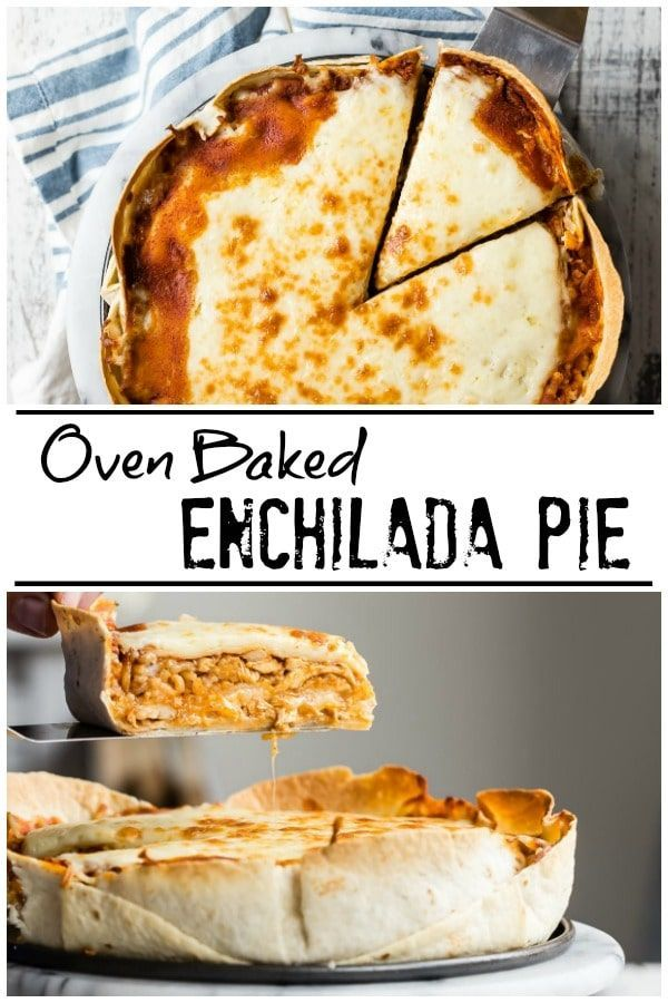 Photo of This Chicken Enchilada Pie is so cheesy and tastes just like your darling …