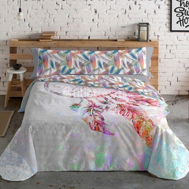 Colcha con diseño de plumas en 2020 | Textil hogar, Diseños