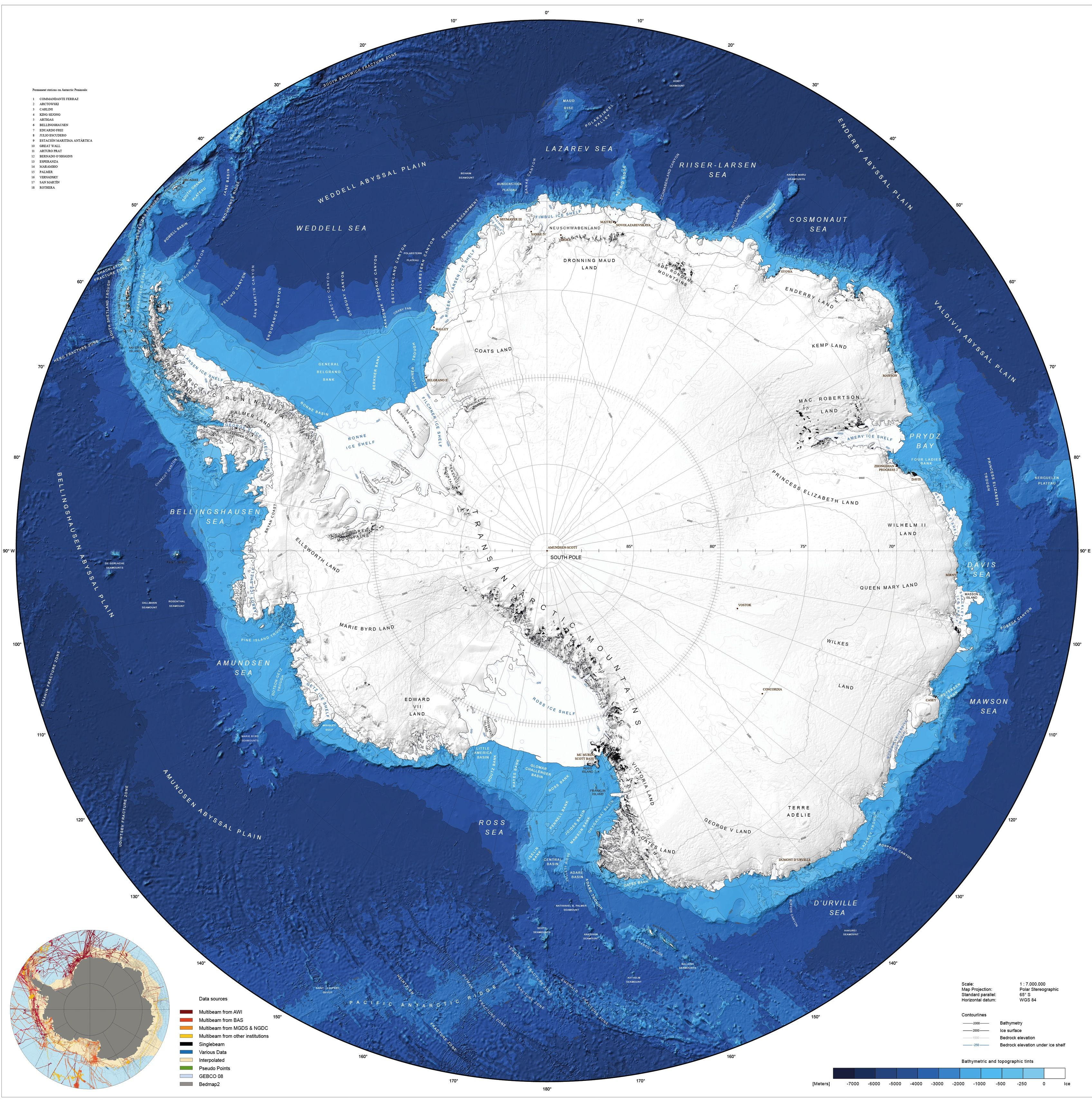See Antarctica S Entire Seafloor With New Map Antarctica Southern Ocean Ancient World Maps