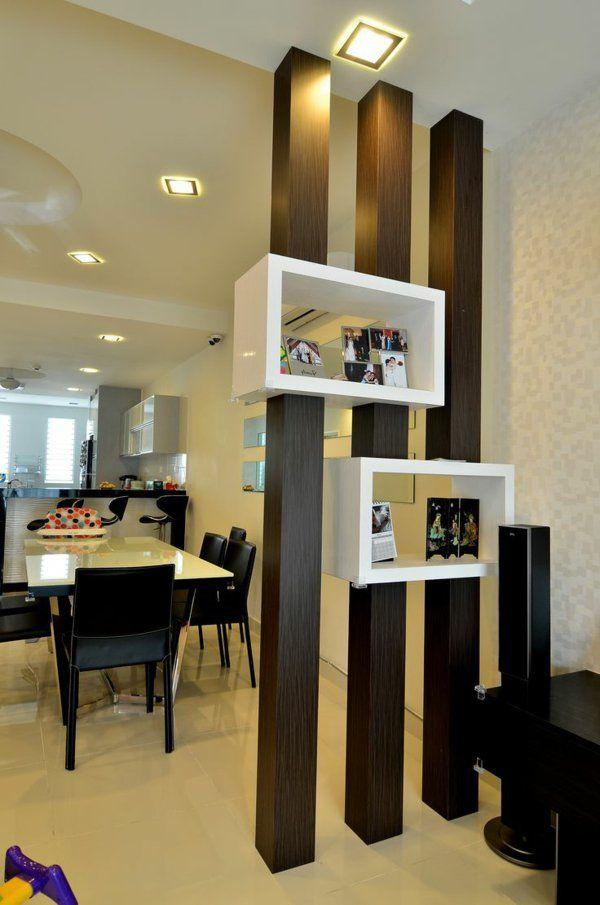 trennwand-idee im modernen zimmer Interior Pinterest Moderne - moderne trennwande wohnzimmer