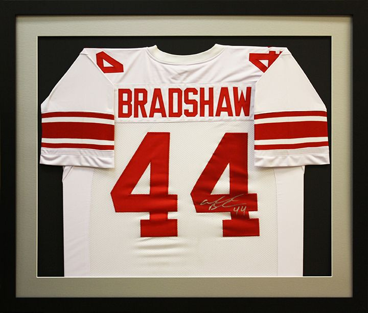 NFL football Bradshaw jersey framed in a custom shadowbox by Art and ...