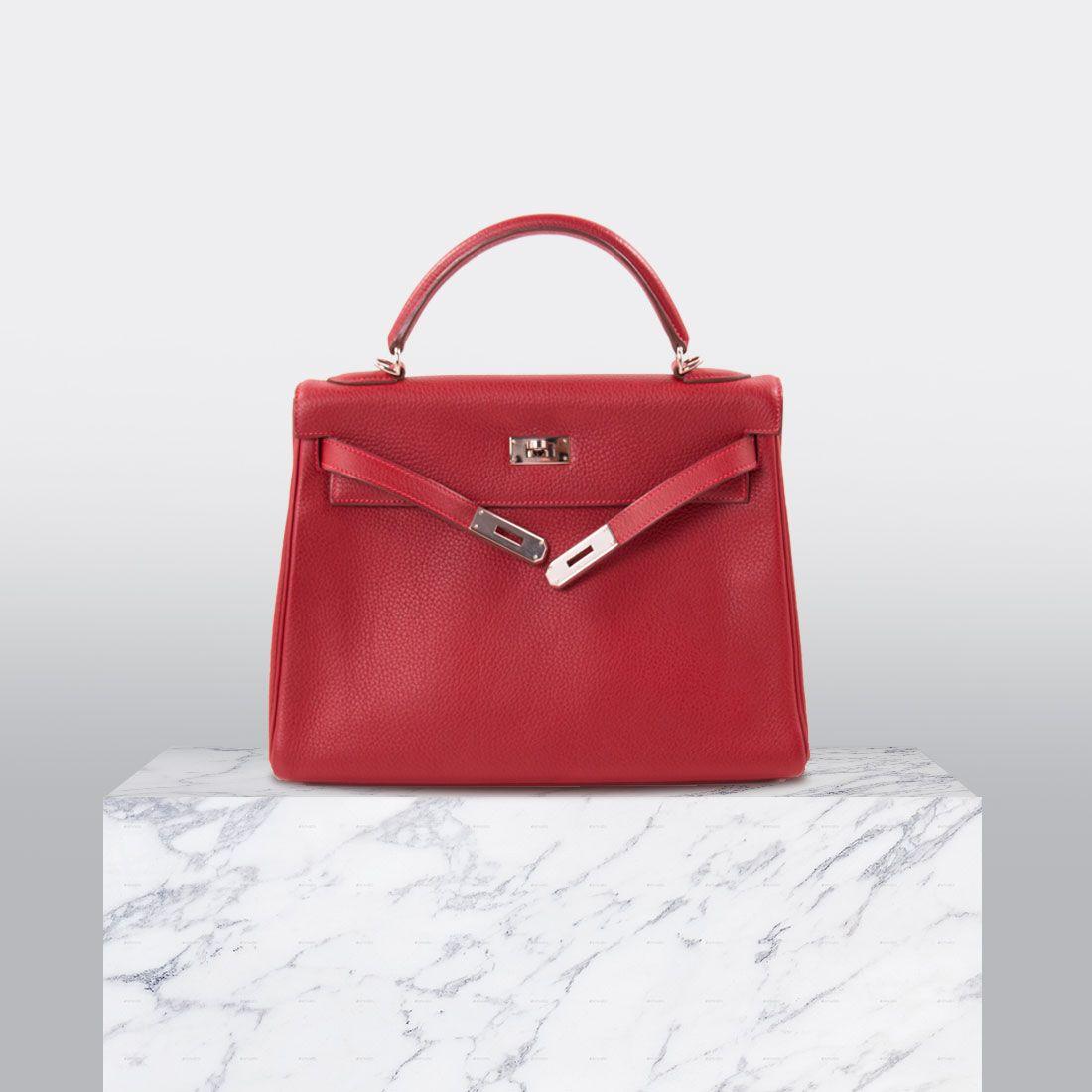 7d81b840f198 Shop authentic Hermès Kelly 32 Rouge Casaque Clemence at revogue for ...