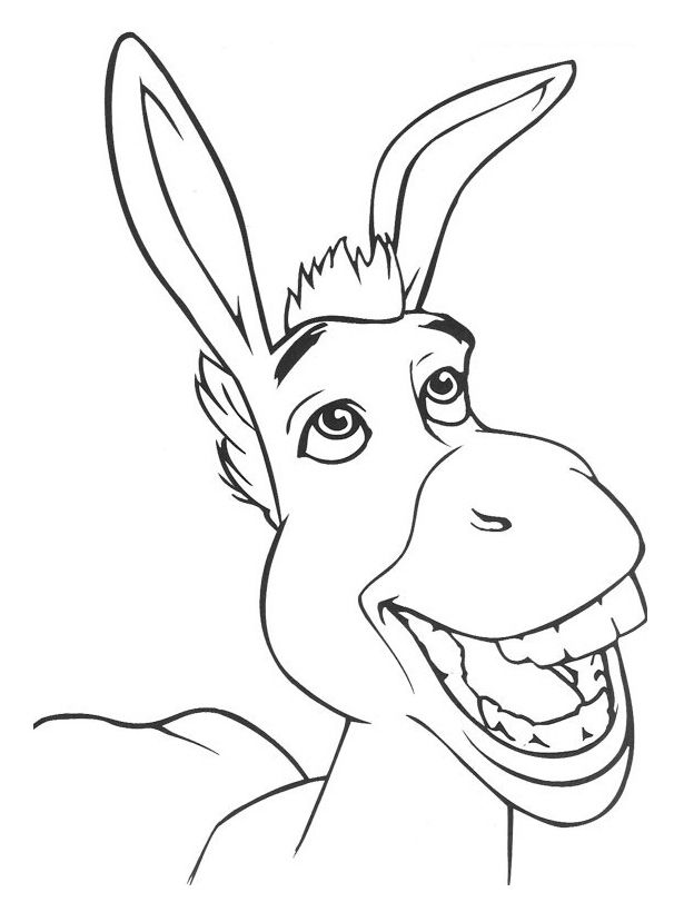Donkey Coloring Page Az Coloring Pages Coloring Pictures