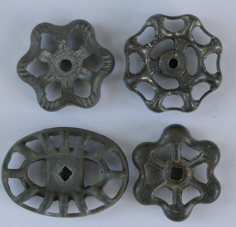 Vintage Valve Handles/Faucet Handles-Sweet Set of 4 Silver/Grey ...