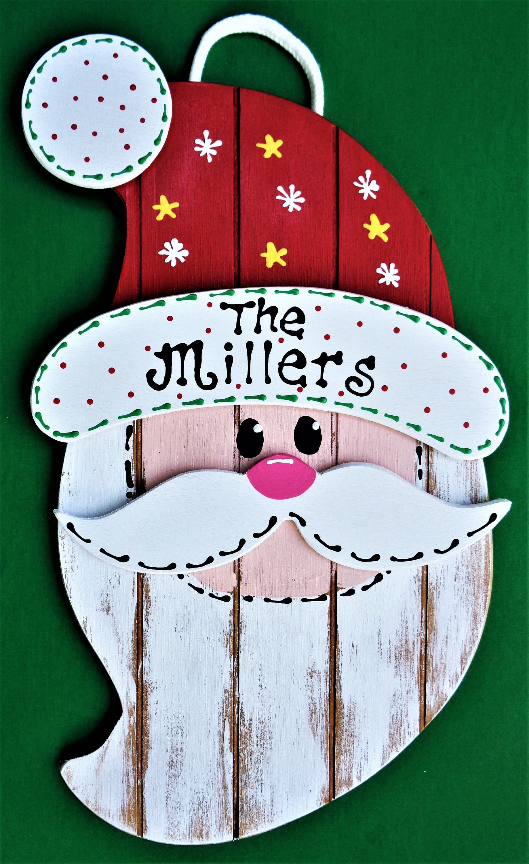Photo of Personalized Name SANTA SIGN Grooved Wood Hanging Hanger Plaque Winter Door Wall Country Wood Crafts CHRISTMAS Holiday Decor Wood Wooden