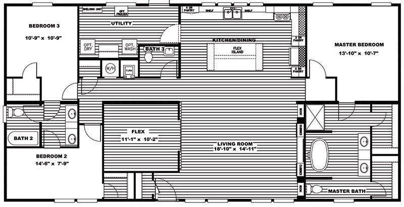 Clayton flex farmhouse double wide mobile home for sale