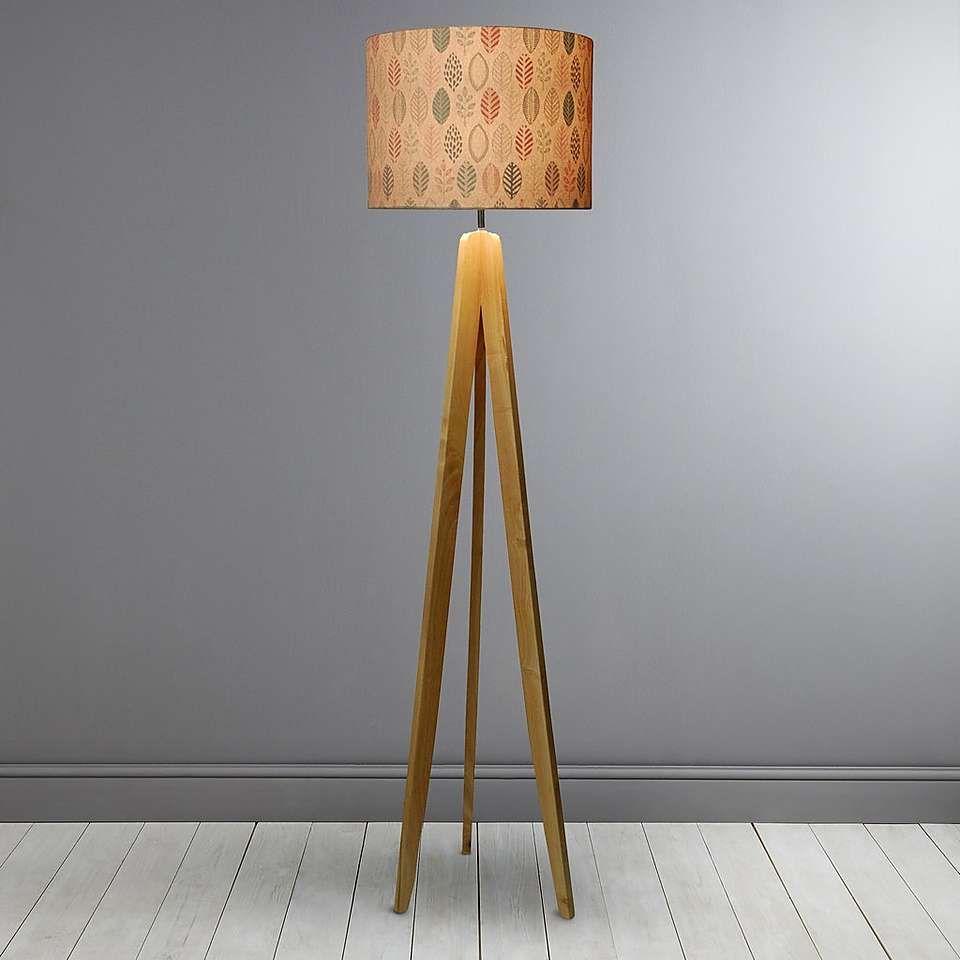 Skandi Natural Leaf Tripod Floor Lamp Dunelm Philly S