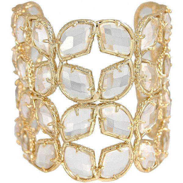 Kendra Scott Paley Cuff, Crystal (12.325 RUB) ❤ liked on Polyvore featuring jewelry, bracelets, accessories, gioielli, crystal bangle, crystal jewelry, cuff jewelry, kendra scott and crystal jewellery