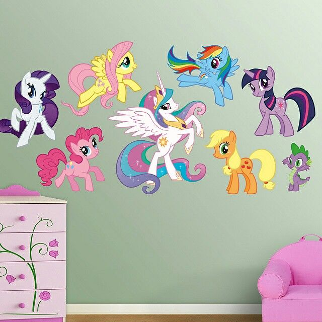 #MLP Wall Decals By #fathead For Over Her Bed